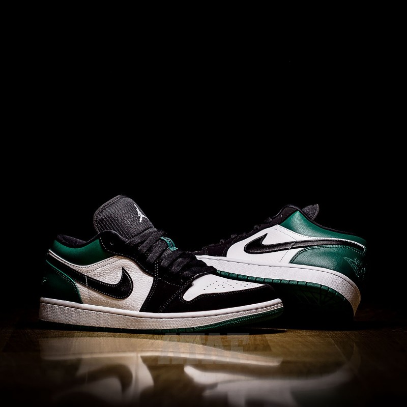 9f3b6c9a75d153 Nike Air Jordan 1 Low White Black Mystic Green - 553558-113 w Ataf.pl