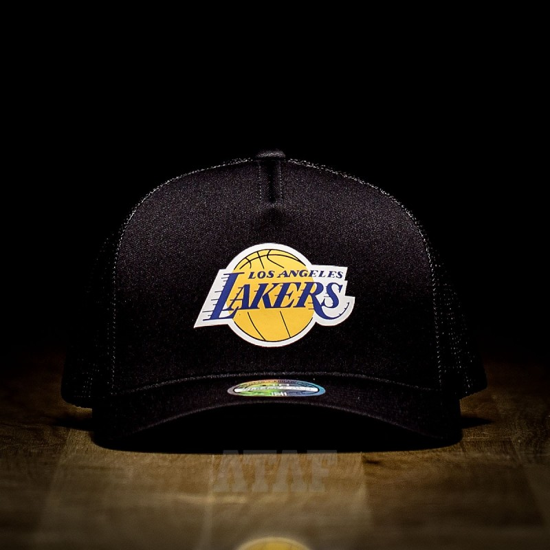 reputable site 3cac9 c5040 Mitchell   Ness NBA Los Angeles Lakers Vintage 110 Snapback Black
