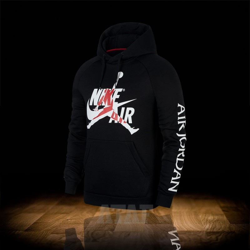 Nike Air Jordan Jumpman Classics Fleece Pullover Hoodie Black