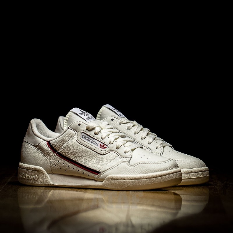 adidas Continental 80 Beige Off White Scarlet