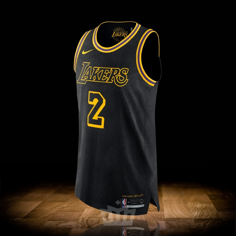 timeless design 08a39 2db44 Nike NBA City Edition Los Angeles Lakers Authentic Jersey Lonzo Ball