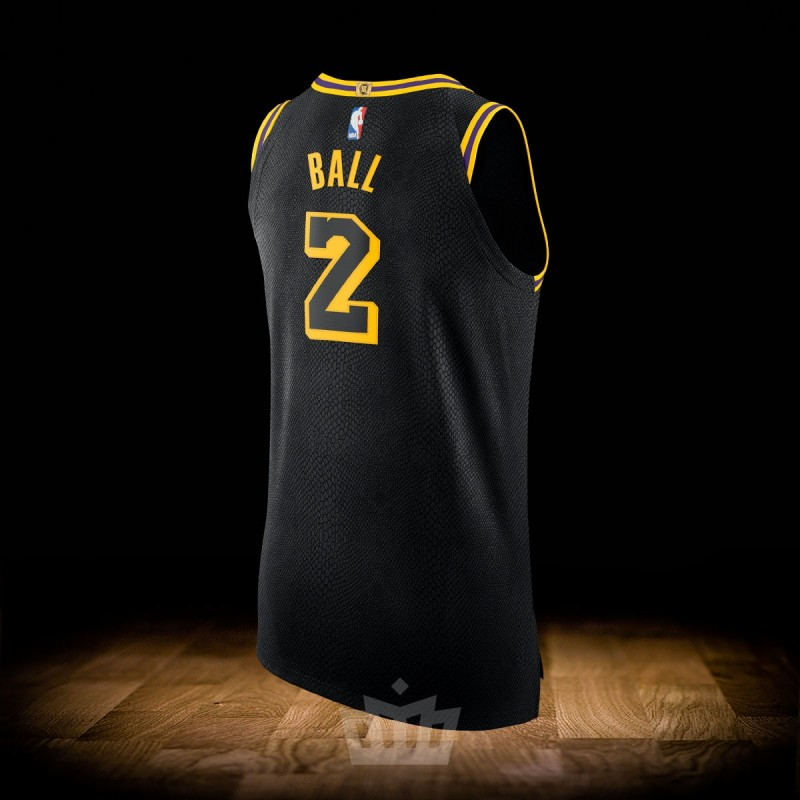 8ebc37dc1dd Nike NBA City Edition Los Angeles Lakers Authentic Jersey Lonzo Ball ...
