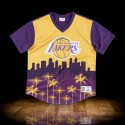 Mitchell & Ness NBA Los Angeles Lakers Game Winning Shot Mesh V-Neck Yellow Black