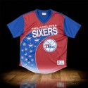 Mitchell & Ness NBA Philadelphia 79ers Game Winning Shot Mesh V-Neck Blue Red