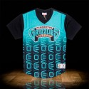 Mitchell & Ness NBA Vancouver Grizzlies Game Winning Shot Mesh V-Neck Teal Black