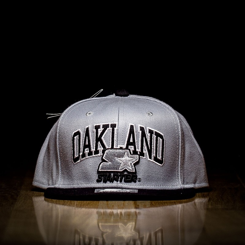 Starter Black Label Oakland Snapback Black Grey