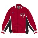 Mitchell & Ness NBA Warm Up Authentic Jacket Chicago Bulls Red