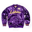 Mitchell & Ness NBA Los Angeles Lakers Special Script Lightweight Satin Jacket Purple