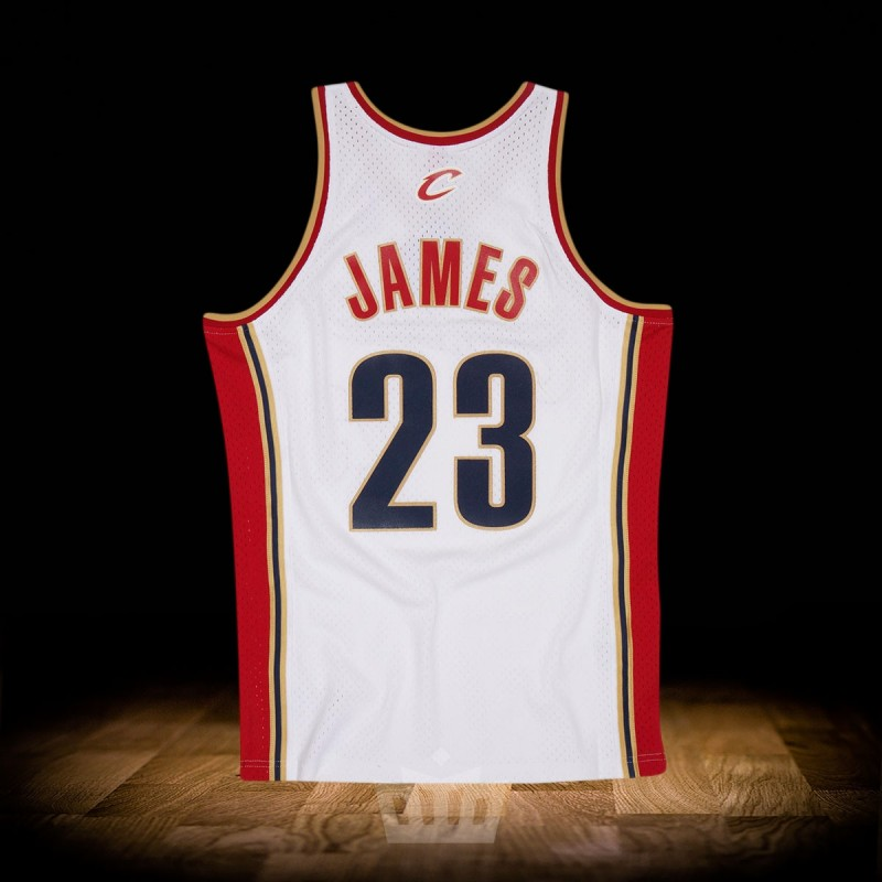 competitive price 750d2 a6000 Mitchell & Ness NBA 2003-04 Cleveland Cavaliers Swingman Jersey White  Lebron James