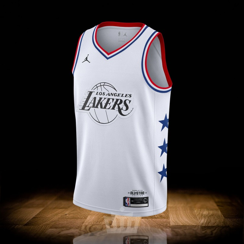 on sale 01c7a 4af88 Nike Air Jordan All-Star 19 Swingman Jersey White Los Angeles Lakers Lebron  James