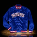Mitchell & Ness NBA Philadelphia 76ers Lightweight Satin Jacket Navy