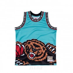 Mitchell & Ness NBA Vancouver Grizzlies Big Face Jersey Teal