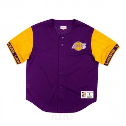 Mitchell & Ness NBA Los Angeles Lakers Front Button Mesh Pure Shooter Purple