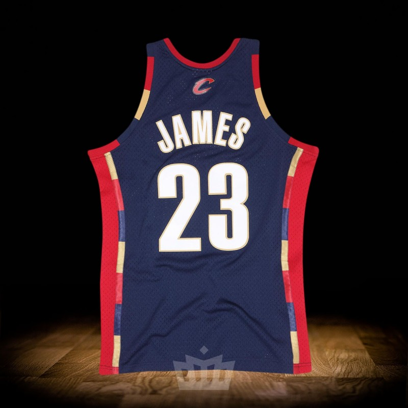 8e738bf7ffd Mitchell   Ness NBA 2008-09 Cleveland Cavaliers Swingman Jersey Navy Lebron  James