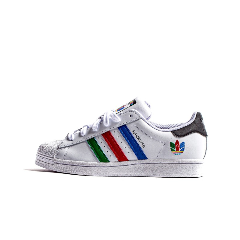 adidas zx220 women sneakers | adidas Superstar J Colorful Trefoil Cloud White