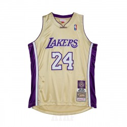 Mitchell & Ness NBA Hall Of Fame Authentic Jersey Los Angeles Lakers 1996-2016 Kobe Bryant Gold
