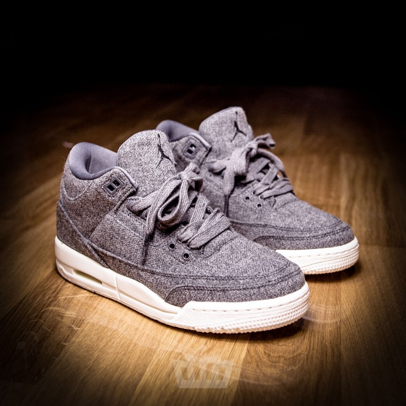 nike air jordan 3 retro bg wool