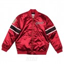 Mitchell & Ness NBA Chicago Bulls Heavyweight Satin Jacket Scarlet