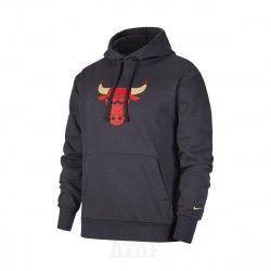 Nike NBA Chicago Bulls Essential City Edition Pullover Hoodie Grey