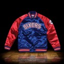 Mitchell & Ness Tough Season Satin Jacket Philadelphia 76ers  Navy Red