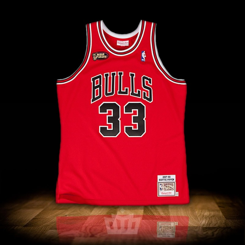 timeless design 8a587 d8eb6 Mitchell & Ness NBA 1997-98 Chicago Bulls Authentic Jersey Scottie Pippen  Red