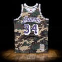 Mitchell & Ness NBA 1996-97 Los Angeles Lakers Swingman Camo Jersey Shaquille Shaq O'Neal