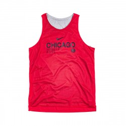 Nike NBA Chicago Bulls Reversible Standard Issue Courtside Tank Top Red Grey