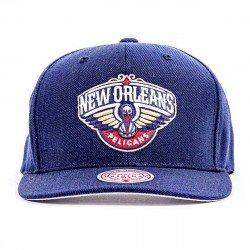 Mitchell & Ness NBA Wool Solid Snapback New Orleans Pelicans