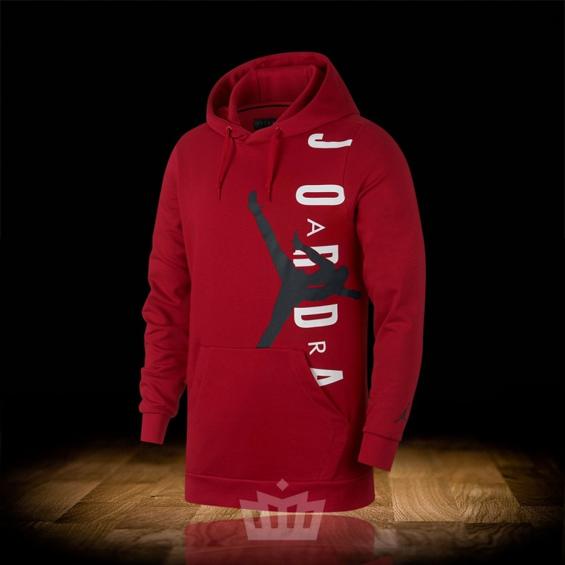 0790f65791d8 Nike Air Jordan Jumpman Air Lightweight Hoodie Gym Red - ao0446-687 ...