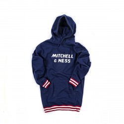 Mitchell & Ness WMNS Hoodie Dress With Pocket Navy