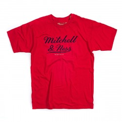 Mitchell & Ness Classic Logo Tee Red