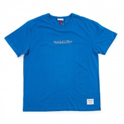 Mitchell & Ness Embroidered Front Classic Logo Tee Blue