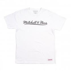 Mitchell & Ness Script Logo Traditional Branded Tee White