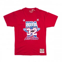 Mitchell & Ness NBA All Star West Name&Number Magic Johnson Tee Scarlet