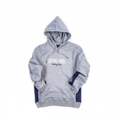 Mitchell & Ness Sporting Good Paneled Pullover Hoodie Grey