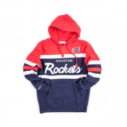 Mitchell & Ness NBA Houston Rockets Head Coach Pullover Hoodie Navy Red