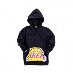 Mitchell & Ness NBA Cropped Logo Los Angeles Lakers Hoody Black
