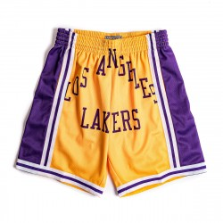Mitchell & Ness NBA Blown Out Fasion Short Los Angeles Lakers Light Gold