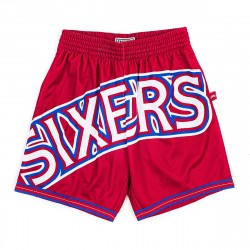 Mitchell & Ness NBA Blown Out Fasion Short Philadelphia 76ers Red