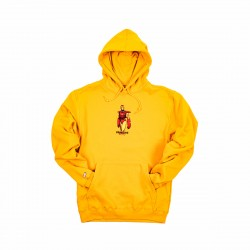 Primitive X Marvel Iron Man Pullover Hoodie Gold