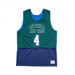 Mitchell & Ness Branded Two Side Tank Top Green Blue