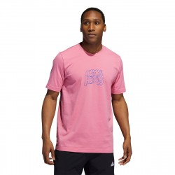 adidas Lil Stripe Hoops Graphic Tee Rose Tone