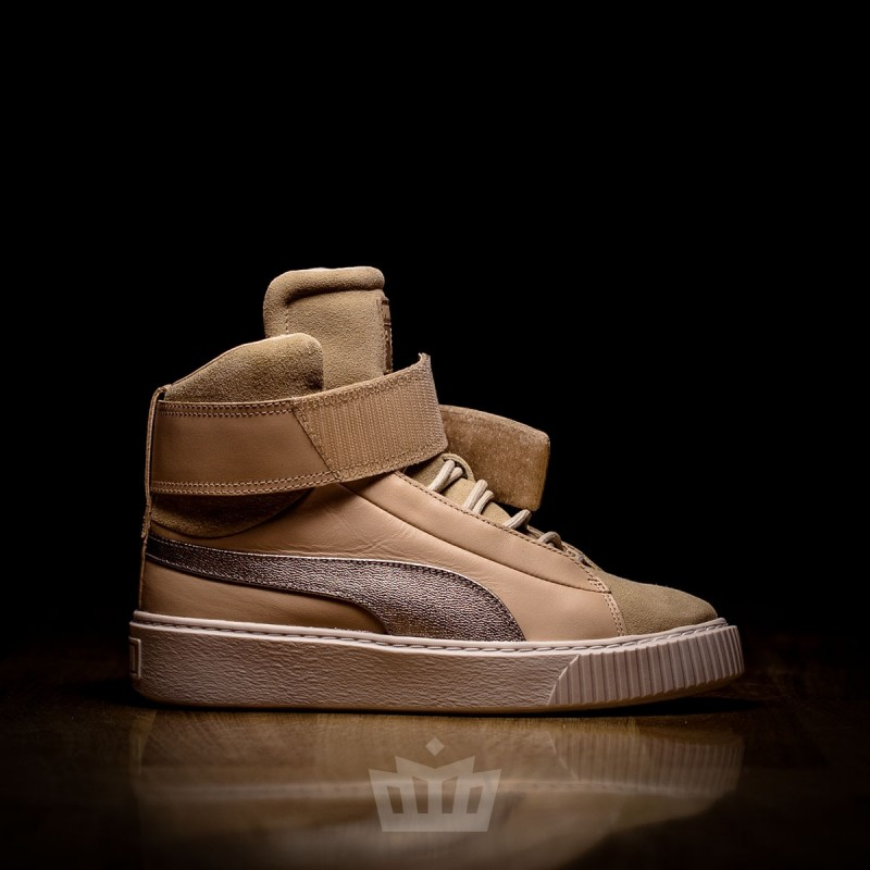 Puma Basket Platform Mid Up WMNS Natural Vachetta