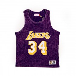 Mitchell & Ness NBA Quintessential Acid Wash Tank Los Angeles Lakers Shaquille O'Neal