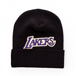 Mitchell & Ness NBA Los Angeles Lakers Chenille Logo Cuff Knit Beanie
