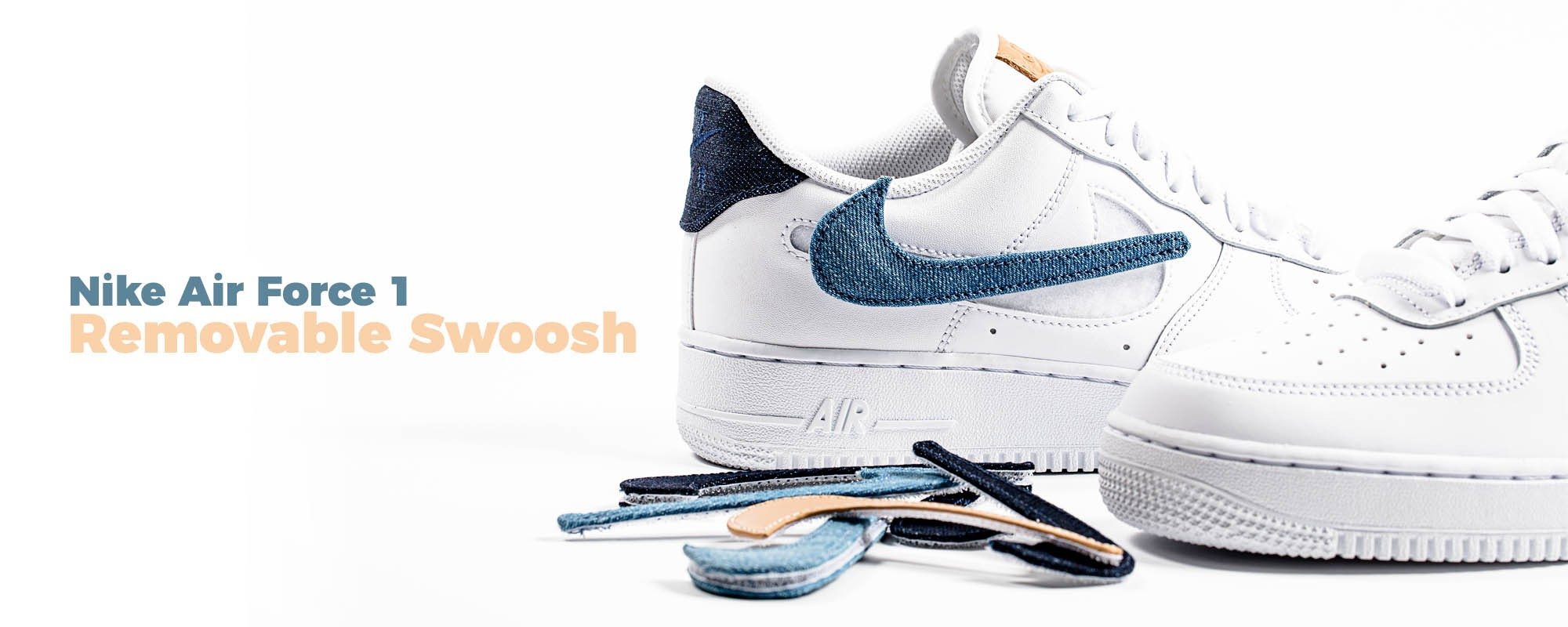 Nike Air Force 1 07' LV8 3 White Removable Swoosh
